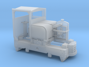 7mm scale cabbed simplex with hollow bonnet in Smooth Fine Detail Plastic
