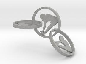 yoga jewelry - earring (1) in Aluminum