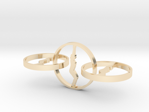 yoga jewelry - earring  in 14k Gold Plated Brass