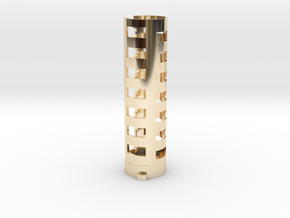 Wonderful Sabers Low Ground battery holder part 1  in 14k Gold Plated Brass