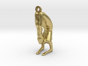 yoga jewelry pose - Vrischikasana in Natural Brass
