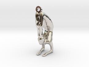 yoga jewelry pose - Vrischikasana in Rhodium Plated Brass
