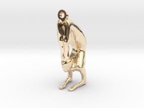 yoga jewelry - pendant earring . Vrischikasana in 14k Gold Plated Brass