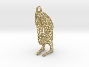 yoga jewelry - pendant earring - Vrischikasana in Natural Brass