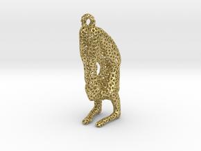 Voronoi yoga jewelry - earring pendant - Vrischika in Natural Brass