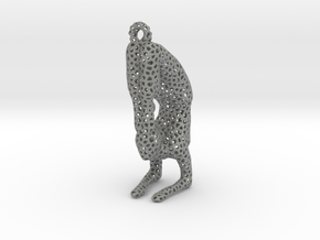 Voronoi yoga jewelry - earring pendant - Vrischika in Gray PA12