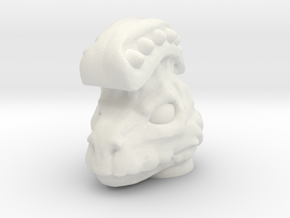 Dino Man Head - Multisize in White Natural Versatile Plastic: Medium