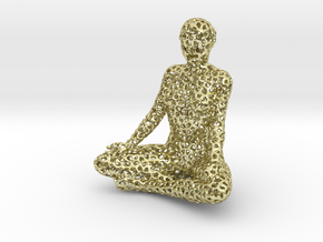 voronoi meditation in 18k Gold Plated Brass