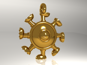 BOLABOLAgol pendants in Polished Gold Steel