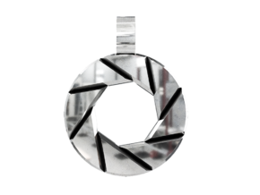 Portal - Aperture Science Pendant in Polished Silver