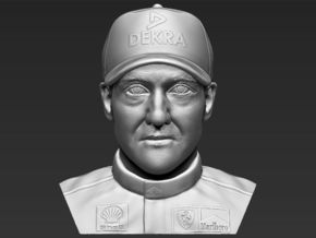 Michael Schumacher bust in White Natural Versatile Plastic