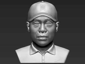 Tiger Woods bust in White Natural Versatile Plastic