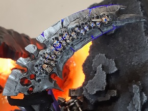 Reaper Form Scythe - Knight Scale  in Smooth Fine Detail Plastic