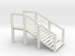 S Scale Cattle Ramp in White Natural Versatile Plastic