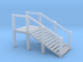 S Scale Cattle Ramp in Smooth Fine Detail Plastic