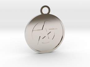 Ace of Pentacles in Platinum