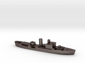 HMS Begonia corvette 1:2400 WW2 in Polished Bronzed-Silver Steel
