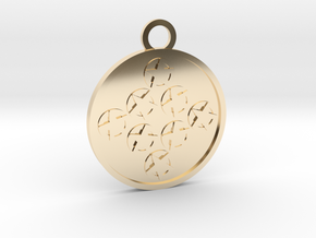 Eight of Pentacles in 14K Yellow Gold
