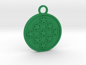 Nine of Pentacles in Green Processed Versatile Plastic