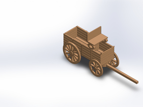 ORE WAGON in White Natural Versatile Plastic