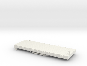 USMRR FLATCAR 9 in White Natural Versatile Plastic