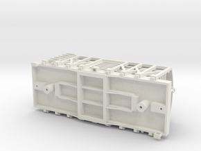 USMRR LIVESTOCK CAR in White Natural Versatile Plastic