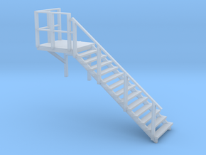 Staircase right, to N scale office container in Smoothest Fine Detail Plastic