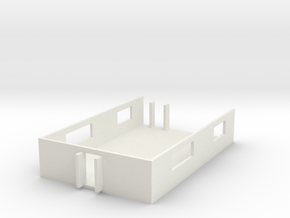 1/87 Scale MASH Main Building PostOP in White Natural Versatile Plastic