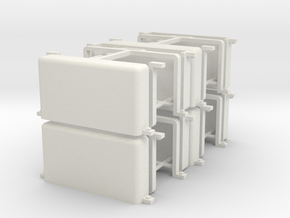 Eight IDF M50/51 Jerry Can Brackets  in White Natural Versatile Plastic