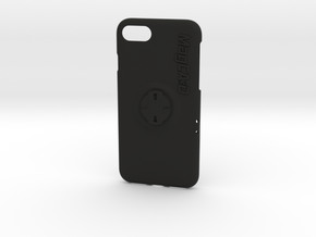 iPhone 7 Wahoo Mount Case - Centre in Black Natural Versatile Plastic