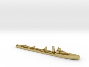 HMS Walpole destroyer-SR escort 1:1800 WW2 in Natural Brass