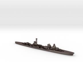 Raimondo Montecuccoli light cruiser 1:2400 WW2 in Polished Bronzed-Silver Steel