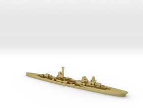 Raimondo Montecuccoli light cruiser 1:2400 WW2 in Natural Brass