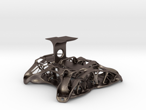 Chassis FPV Drone 50% Scale in Polished Bronzed-Silver Steel