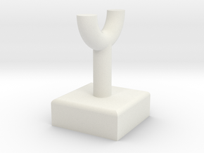 Pipe Pillar v1 #1 in White Natural Versatile Plastic