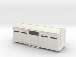 USMRR ARMORED BOXCAR in White Natural Versatile Plastic