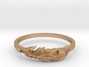 Feather Stackable Band in Polished Bronze