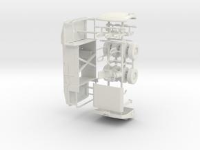 1/50th Pneumatic Tire Roller in White Natural Versatile Plastic