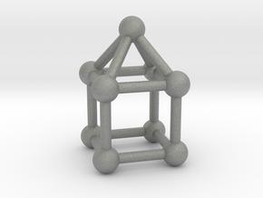 0742 J08 Elongated Square Pyramid V&E (a=1cm) #3 in Gray PA12