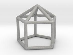 0743 J09 Elongated Pentagonal Pyramid E (a=1cm) #1 in Aluminum