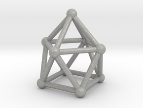 0747 J10 Gyroelongated Square Pyramid (a=1cm) #1 in Aluminum