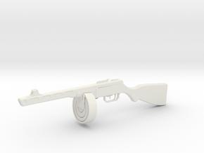 1:12 Miniature PPSH 41 in White Natural Versatile Plastic: 1:12