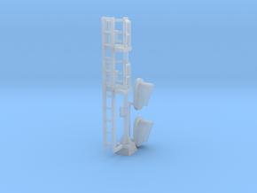 N Modern Signal Mast 2 heads in Smooth Fine Detail Plastic