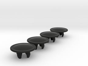 bolt_cap_6mm_big_x4 in Black Natural Versatile Plastic