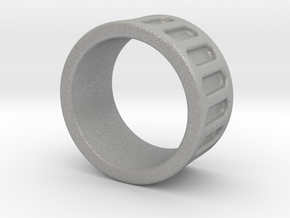 Groove Ring Band 10mm in Aluminum: 6 / 51.5