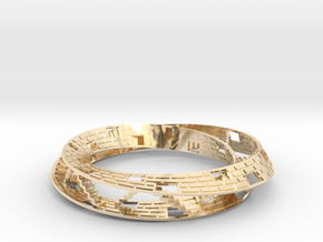 Mobius Floors in 14k Gold Plated Brass