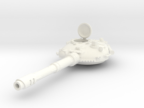 28mm T-72 style tank turret open hatch in White Processed Versatile Plastic