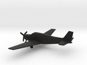Beechcraft B36TC Bonanza in Black Natural Versatile Plastic: 1:100