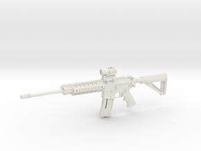 1:12 Miniature Sig Sauer 516 Tactical Patrol in White Natural Versatile Plastic: 1:12
