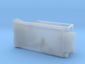 (1) YELLOW LARGE TRACKED SCRAPER HITCH in Smooth Fine Detail Plastic